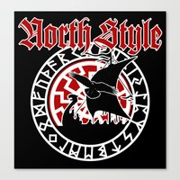 vikings Canvas Prints featuring Vikings by North Style