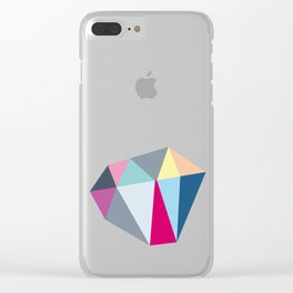 Diamond Shapes Clear iPhone Case