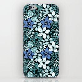 Tropical Floral Aqua iPhone Skin