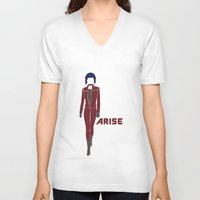 ghost in the shell V-neck T-shirts featuring Ghost in the Shell Arise by Krbshadow