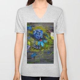Blue HummingBird Morning Unisex V-Neck