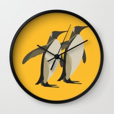 Penguins mate for life Wall Clock