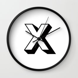 Letter X ... As Easy As ,,, Wall Clock