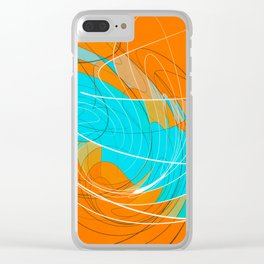 temporal distortion Clear iPhone Case
