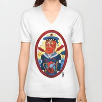 sailor V-neck T-shirts featuring Sailor by Ricardo Cavolo