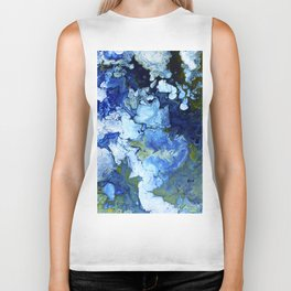 Abstract Nature Acrylic Pour Biker Tank