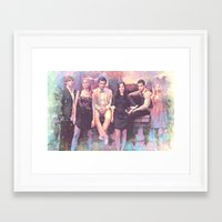 gossip girl Framed Art Prints featuring Gossip Girl American TV series by Nechifor Ionut