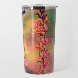 Bee N Wildflowers Diamond Earth Tones Travel Mug