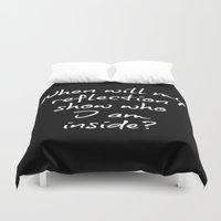 mulan Duvet Covers featuring Reflection by Axis