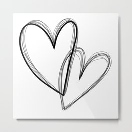 Heart 2 Heart 1 (on white) Metal Print