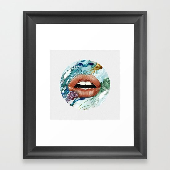 Looking Glass Framed Art Print
