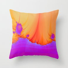 Alien Landscape in pink and Orange Throw Pillow