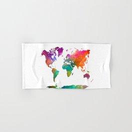 World map in watercolor 25 Hand & Bath Towel