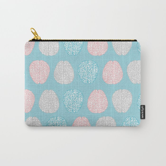 Pastel Brains Pattern Carry-All Pouch