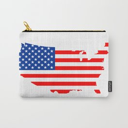 usa flag map Carry-All Pouch