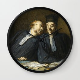"""Honoré Daumier """"Two Lawyers Conversing"""" Wall Clock"""