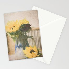 First Sunflowers of Autumn Stationery Cards