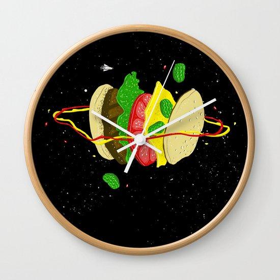 Planetary Discovery 8932: Cheeseburger Wall Clock