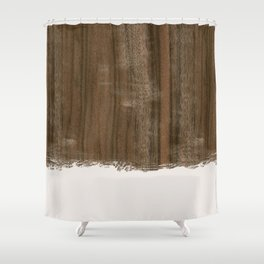 Dipped Wood - Australian Walnut Shower Curtain