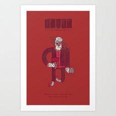 Anton, The Valentine's Yeti Art Print