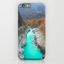 Stunning river Soca Napolen bridge, Slovenia iPhone Case