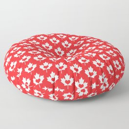 Canada Day Maple and Heart Floor Pillow