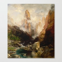 Thomas Moran -Mist in Kanab Canyon, Utah Canvas Print