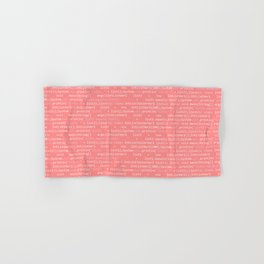 Computer Software Code Pattern in Pink Coral Hand & Bath Towel