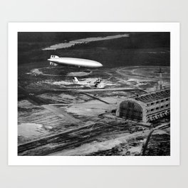 Zeppelin arrival over New Jersey Art Print