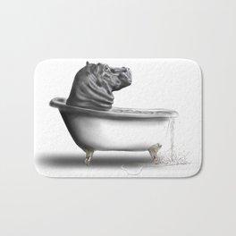 Hippo in Bath Bath Mat