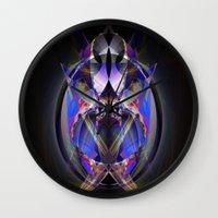 ninja Wall Clocks featuring Ninja by Robin Curtiss