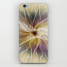 Floral Fantasy, Abstract Fractal Art iPhone Skin