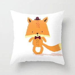 Mr Foxy Throw Pillow