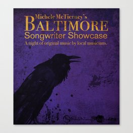 Baltimore Songwriter Showcase poster design Canvas Print