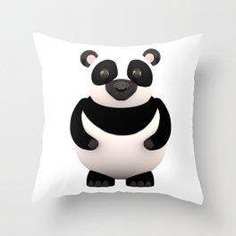 Cartoon Panda Throw Pillow
