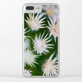 Cactus Close Up Clear iPhone Case