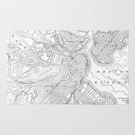 Vintage Map of Boston (1878) Rug