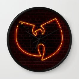 Wu Tang Neon Wall Clock