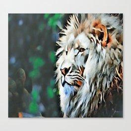 The lion jungle Canvas Print