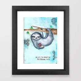 Rule Breaking Sloth Framed Art Print