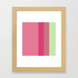 magenta pistache lines Framed Art Print