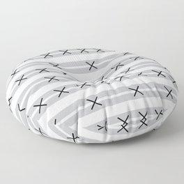 Sorrento Black Mud Cloth Floor Pillow