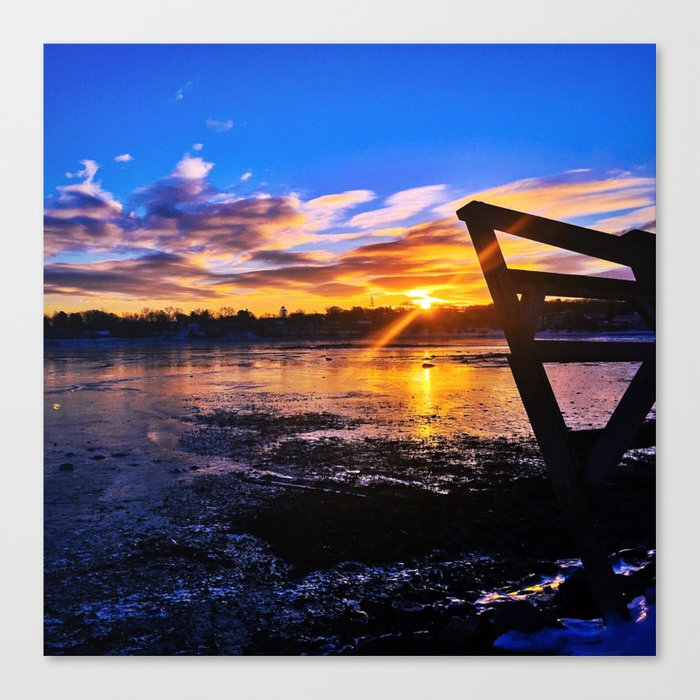 St. Patty's Day Sunrise in South Portland, Maine Canvas Print