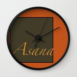 Asana Wall Clock