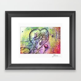 The Love Conflict Framed Art Print