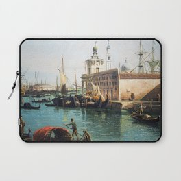 Bernardo Bellotto The Grand Canal from the Campo Santa Maria del Giglio with the Salute Laptop Sleeve
