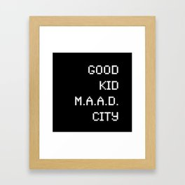 good kid m.AA.d city Framed Art Print