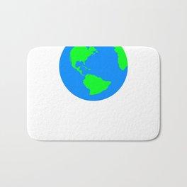 World Map / Earth / Globe Bath Mat