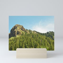 Saddle Mountain Oregon Forest Volcano Woods Landscape Northwest Mini Art Print
