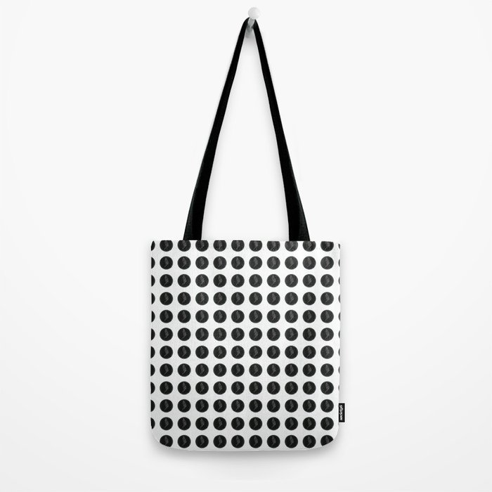 (Overworked) Guardian Angel Polka Dots Tote Bag